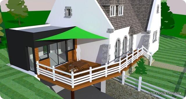 3 mod lisations pour un agrandissement eco logis travaux for Extension sur terrasse