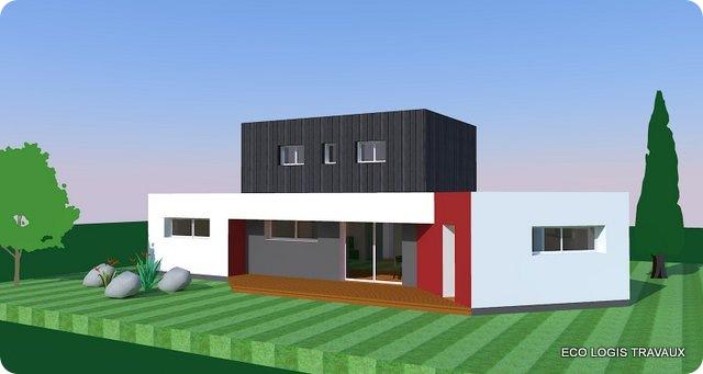 Plan De Maison Moderne  Toit Plat  Plan Gratuit  Eco Logis Travaux