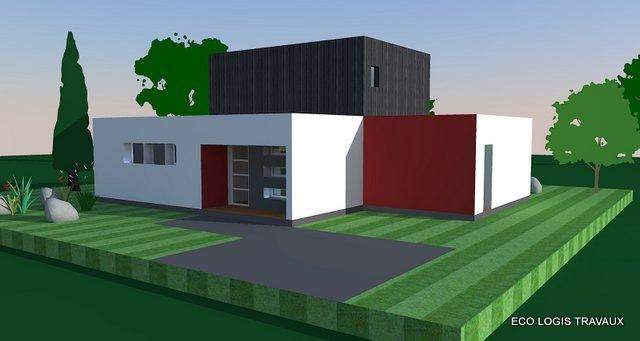 Maison moderne à toit plat de 140 m² – VIDEO