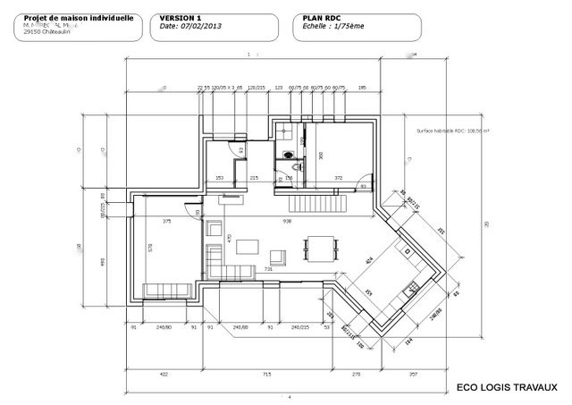 plan maison contemporaine a toit plat