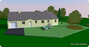 Plan 3D extension maison sud-29