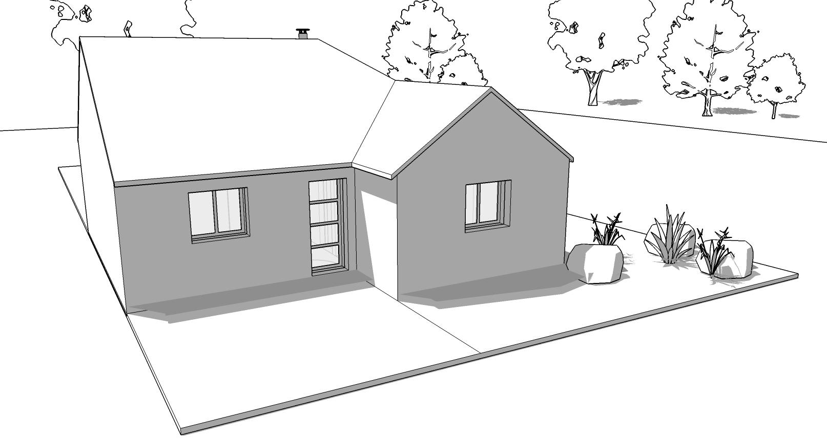 Plan de maison plain-pied 3 chambres – VIDEO