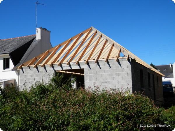 Charpente noue et aretier maison plain pied à Briec (4)