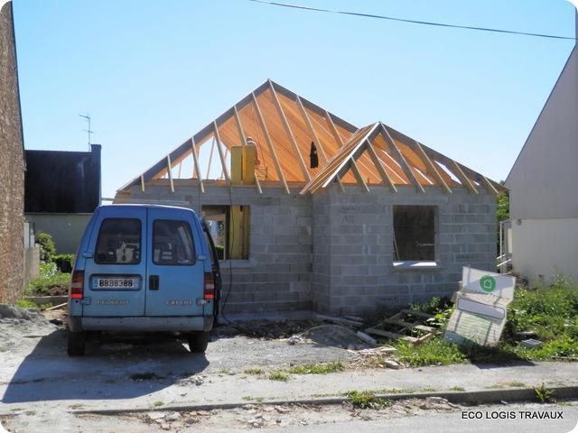 Maison plain pied à Briec – la charpente