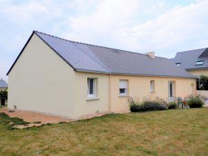 Agrandissement avec allongement de maison près de Quimper