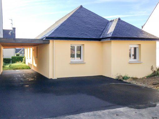 Construction d'une maison neuve de plain-pied à Briec