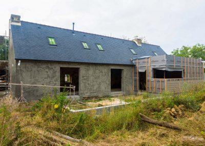 Construction extension de maison ossature bois près de Quimper