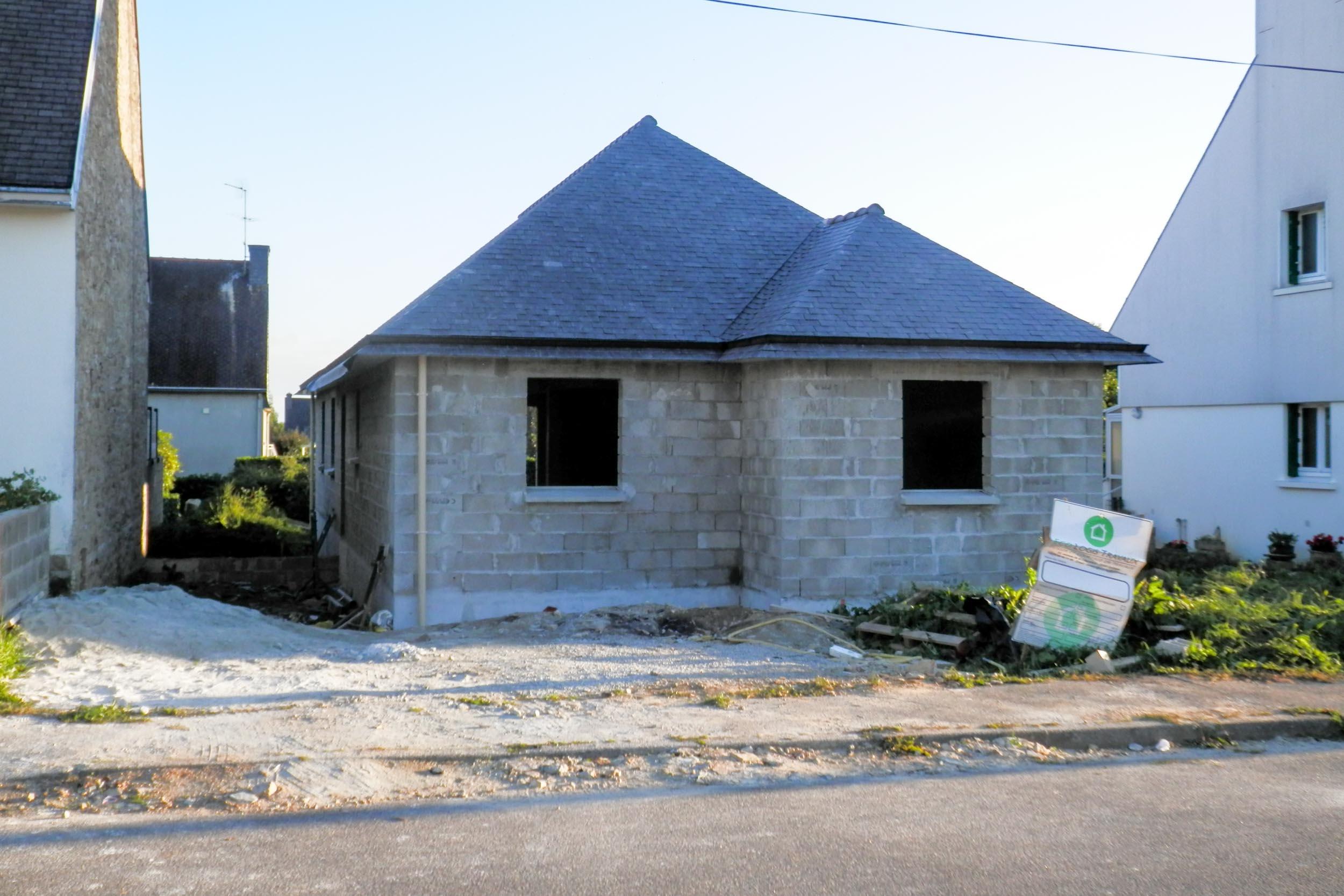 Gros Oeuvre Quimper construction d'une maison neuve de plain-pied à briec - eco